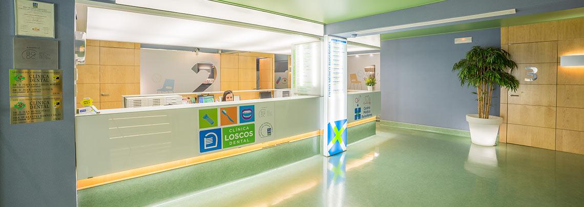 Recepción Clínica dental Zaragoza